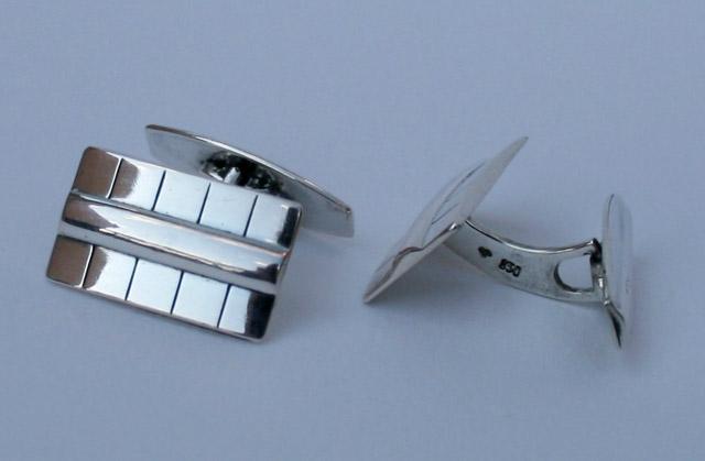 Art Deco manchetknopen -massief 835 zilver