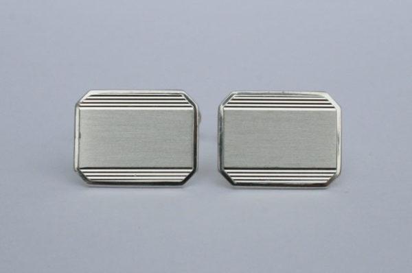 zilveren manchetknopen graveerbaar, 835 zilver vintage
