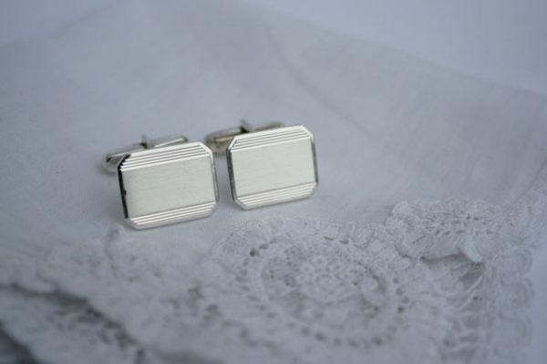 graveerbare manchetknopen, zilver, 835 gemerkt