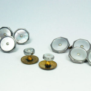 vintage parelmoeren knopen & manchetknopen
