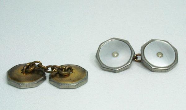set knopen met parelmoer jaren 20-30