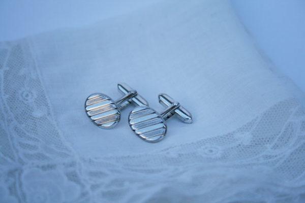 art deco zilveren manchetknopen