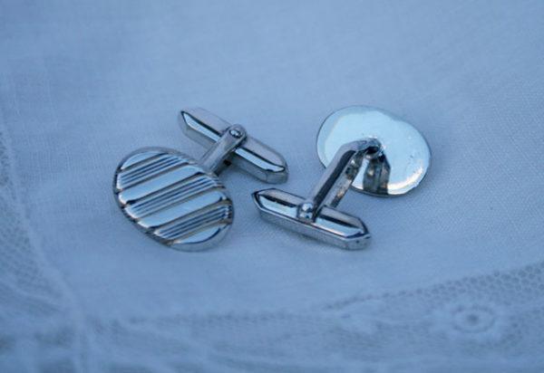 zilveren manchetknopen, vintage