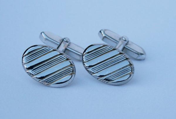 vintage zilveren manchetknopen, gemerkt 835
