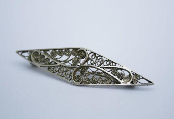 Zilveren filigrein broche, vintage