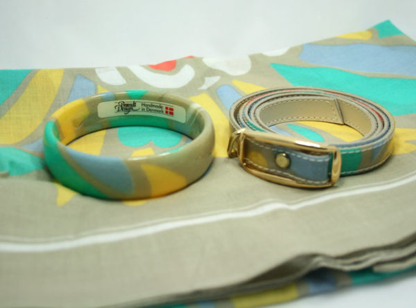 Brandt Design bangle, scarf, belt