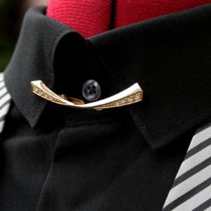kraanspeld met strass collar clip