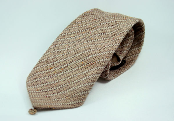 bruin gestreepte stropdas