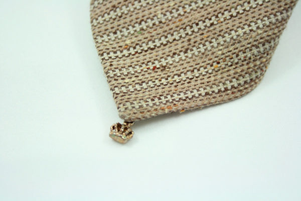tweed stropdas lichtbruin