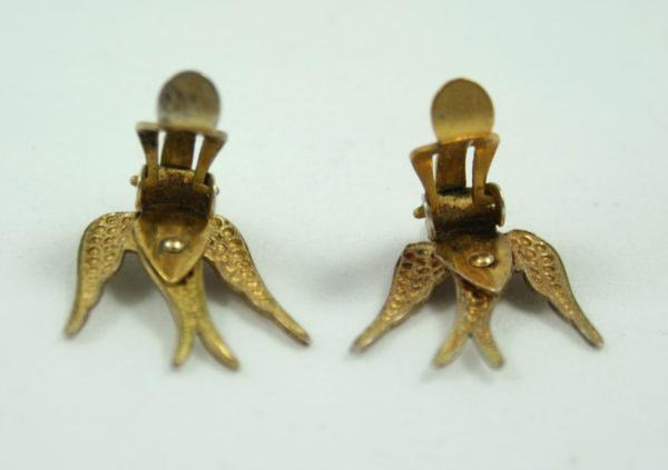 vintage zwaluw oorbellen