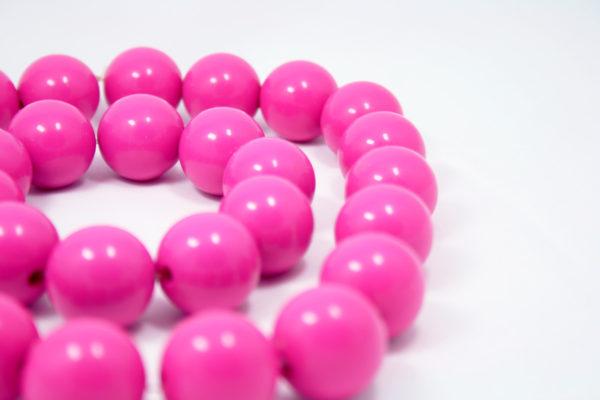 roze 80s ketting & armband set