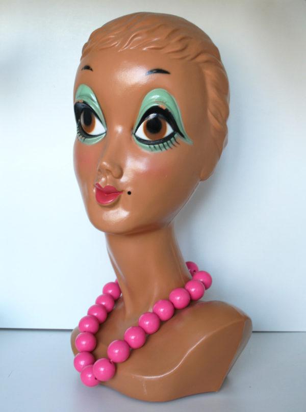 roze 80s ketting en armband set