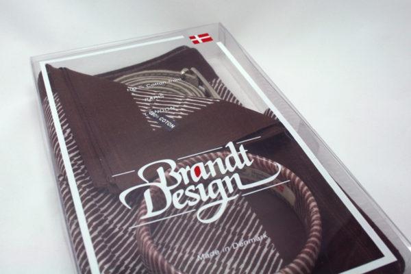 Brandt Design Danish design scarf, bangle and belt