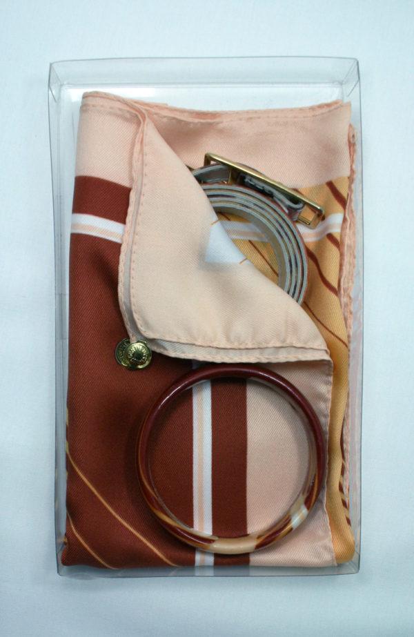 Brandt design for Gentilucci - scarf, bangle, belt