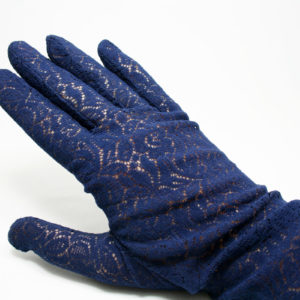 Blauwe kanten handschoentjes