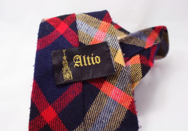 wollen stropdas met ruitpatroon