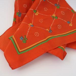 retro oranje sjaal