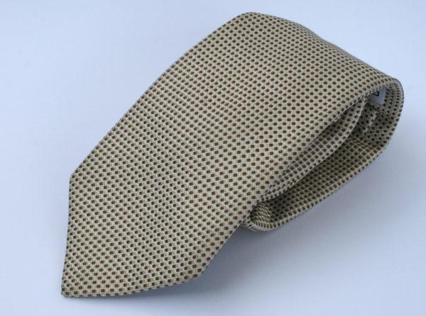 gentiluomo stropdas ivoor bruin