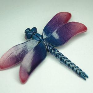 libelle broche vintage