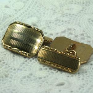 Goudkleurige Art Deco manchetknopen