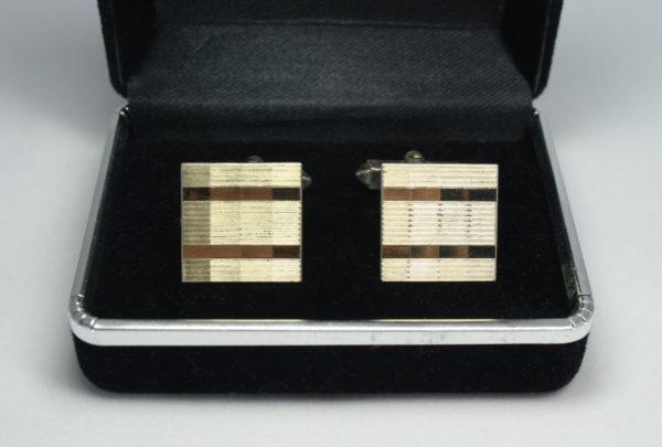 Stijlvolle zilveren manchetknopen - Vintage Accessoires