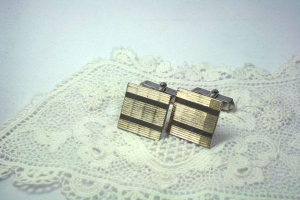 Stijlvolle zilveren manchetknopen vintage