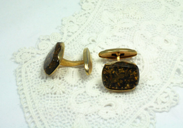 vintage goudkleurige manchetknopen