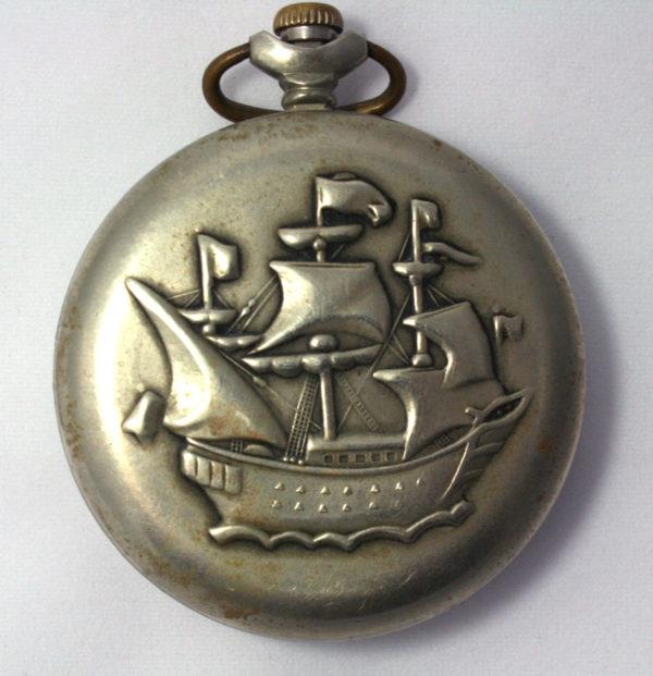 Molnija pocket watch marrhe with ship