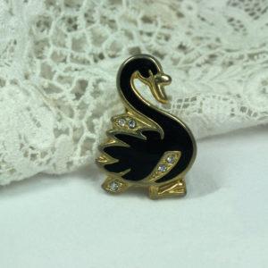 zwaan broche - vintage accessoire