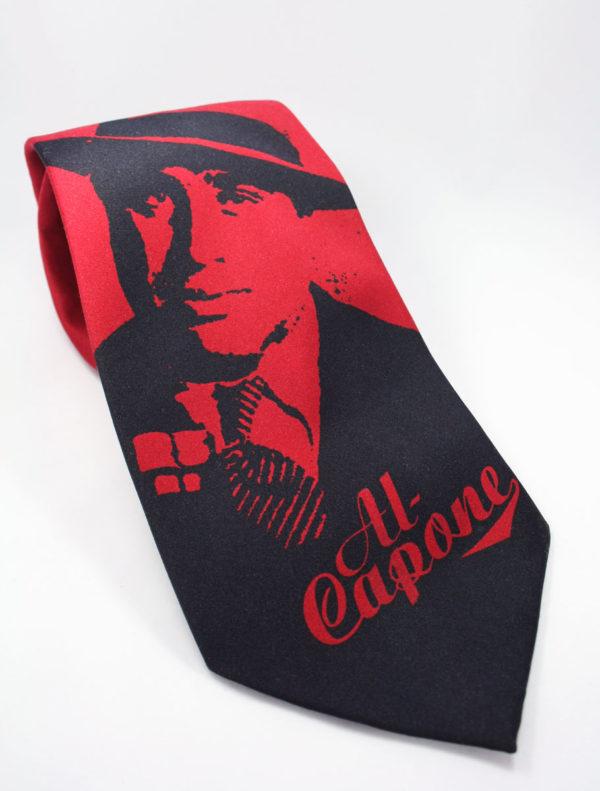 Stropdas met afbeelding van de beroemde ganger Al Capone