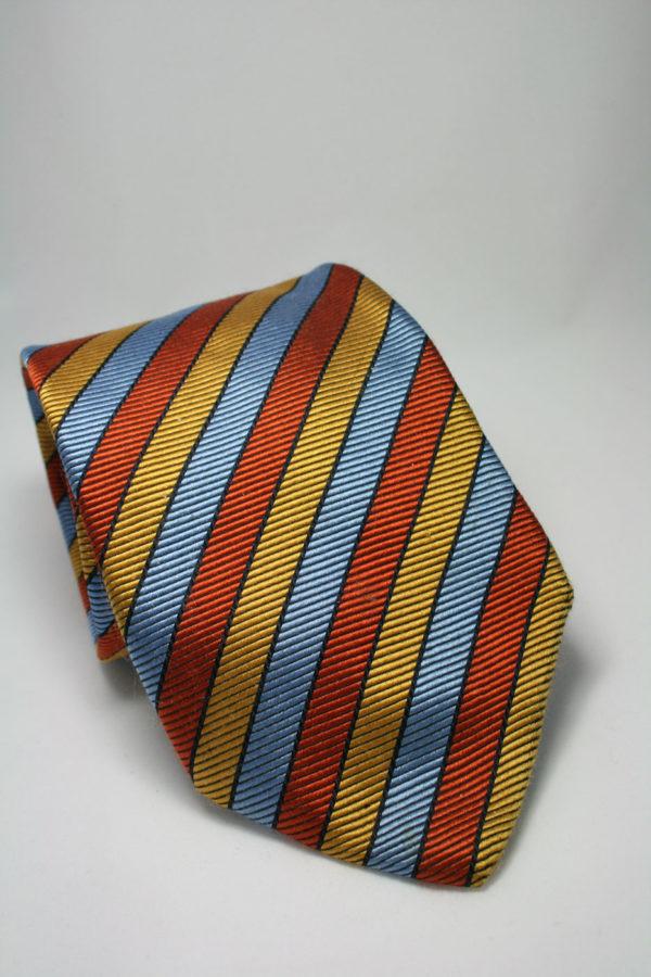 Groovy stropdas in geel/bruin/blauw