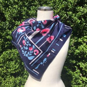 vintage sjaal donkerblauw
