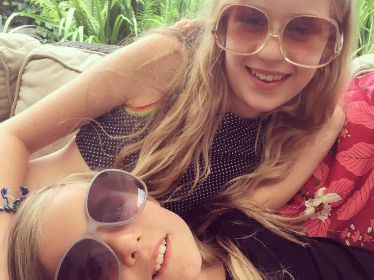 Ondersteboven zonnebril uit de jaren 80
