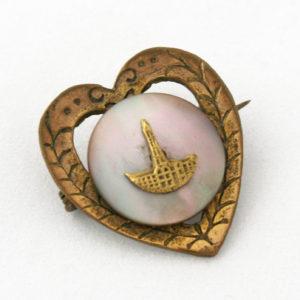 victoriaanse broche in hartvorm