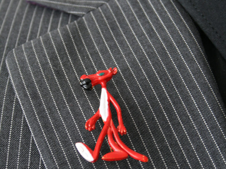 rode pink panther broche
