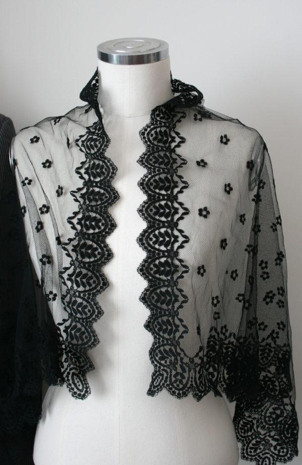 zwart kanten sjaal