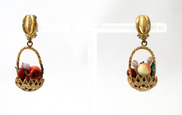 Vintage fruit earrings Carmen Miranda
