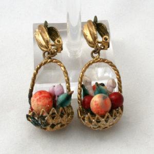 Midcentury fruitschaal oorbellen