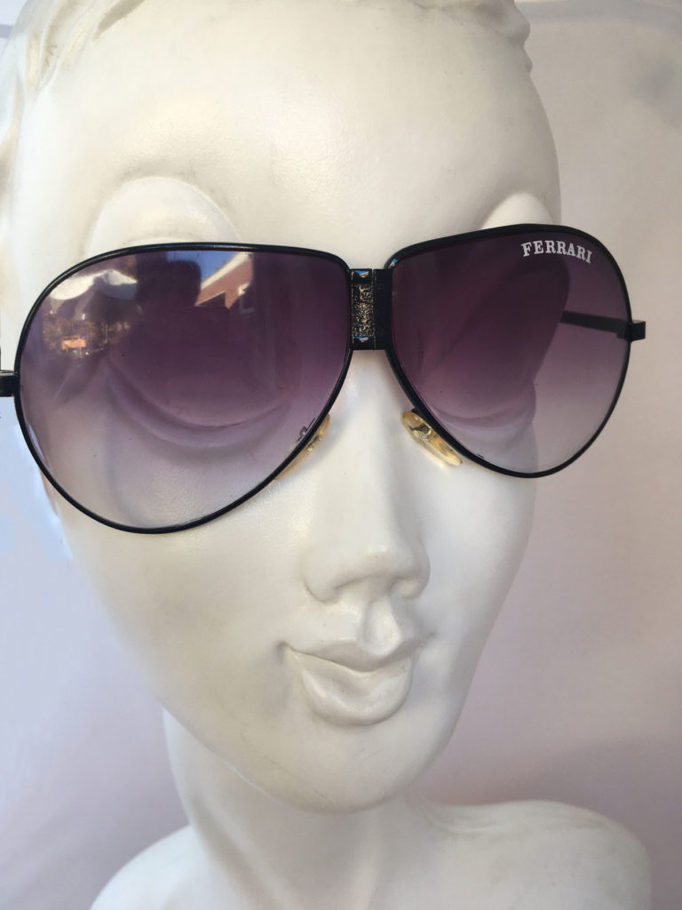 Foldable ferrari aviator glasses sunglasses