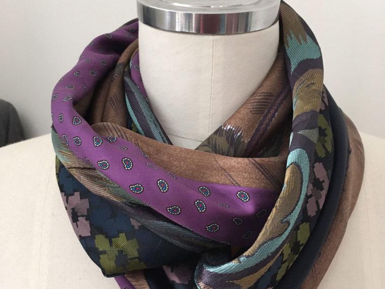 sjaal van oude stropdassen