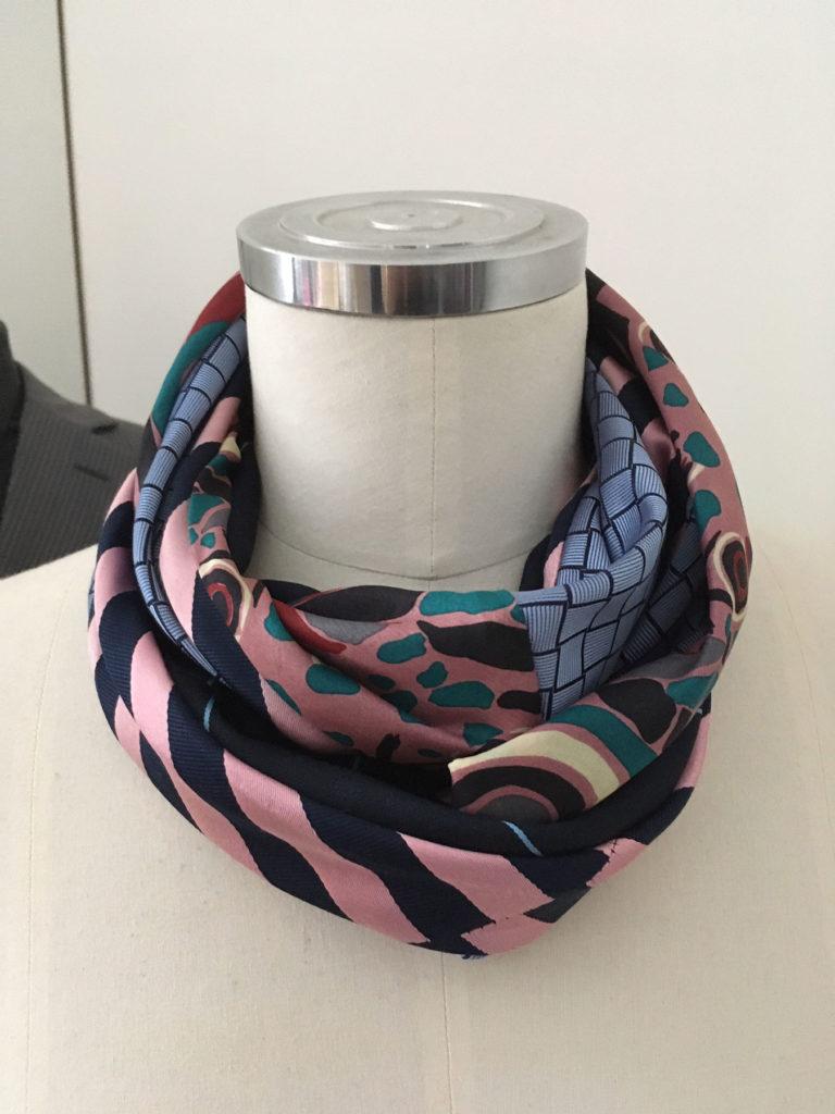 sjaal van vintage stropdassen