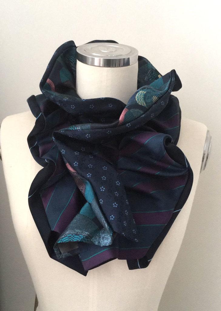 victoriaanse sjaal van stropdassen