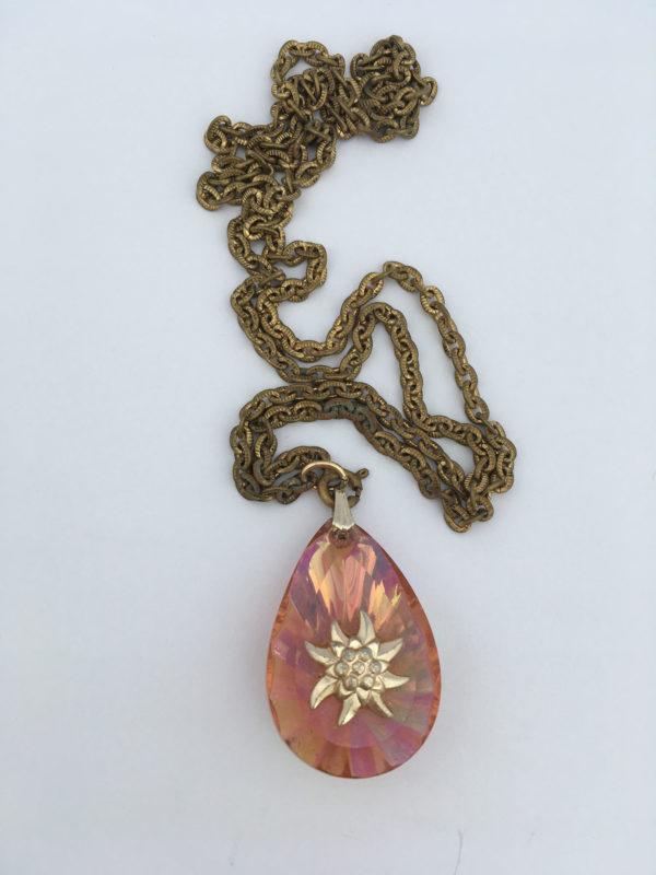 Ketting met edelweiss hanger
