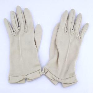 vintage handschoentjes, nude of heel licht beige