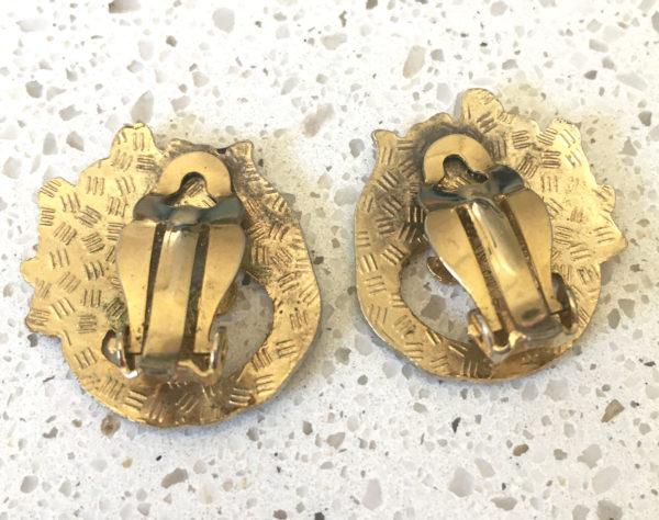 art nouveau oorclips
