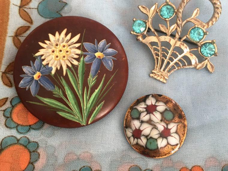 retro bloemen accessoires