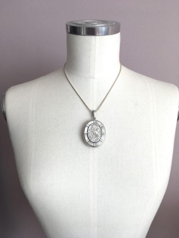 antiek zilveren medaillon