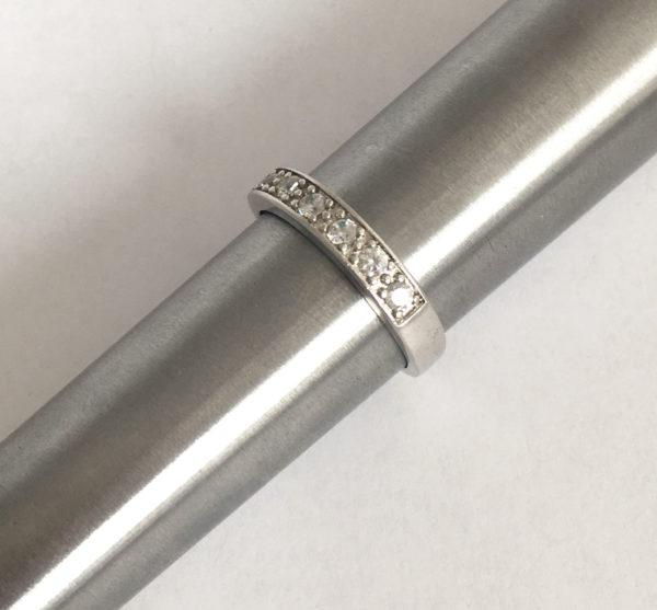Strakke zilveren ring, maat 19,5