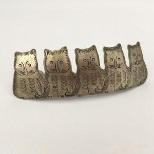 haarclip met katten
