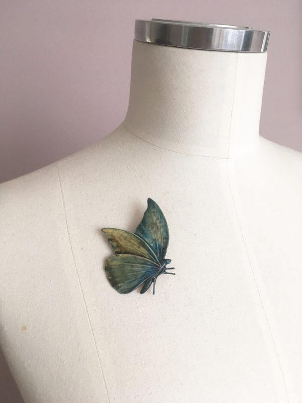 vlinder broche emaille